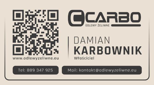 wizytówka Carbo front