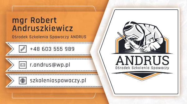 wizytówka Andrus front
